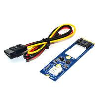 M.2 NGFF to 7 Pin SATA III 3 7Pin SATA3.0 Cable SSD Adapter Converter Board Card