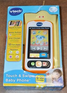 V-Tech NEW Touch and Swipe Baby Phone 6 to 36 Months Teach First Words Numbers