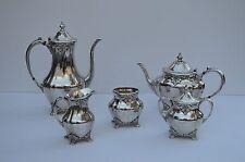 BEAUTIFUL 5 PIECES COMMUNITY CHATELAINE SILVERPLATED TEA POT COFFEE  SET