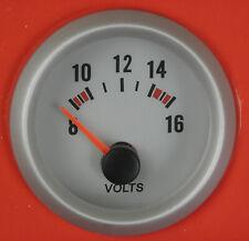 52mm Volt Meter Voltage gauge Silver Rim 12V 002