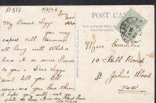 Genealogy Postcard - Coombes - 10 Hill Road, St John's Wood, London  RF523