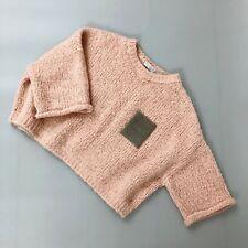 $1545 Brunello Cucinelli Femmes monili Bead cropped oversize laine d'Alpaga Pull