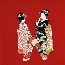 Furoshiki Japanese Wrapping Cloth Large Two Beautiful Geishas