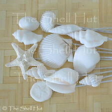 Seashell Bridal Bouquet Picks Beach Wedding Sea Shell Flower Inserts White #2