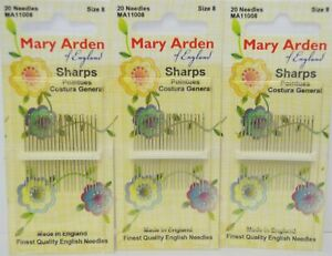 MARY ARDEN SHARPS - SIZE 8 - Qty 20