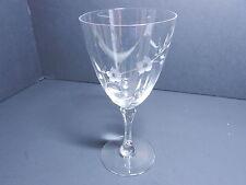 "Lenox Brookdale Cut Water Goblet Clear Crystal 7"" T ca 1965-1984 TM"