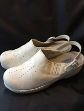 Spring step Clogs 10 shoes white leather professional womens Elsa work Nurse