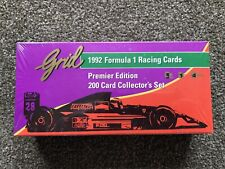 Grid 1992 Formula 1 Racing Cards Premier Edition 200 Card Set, Factory Sealed