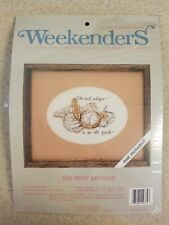 Weekenders Counted Cross Stitch Kit The Best Antique Old Friend Mat Included