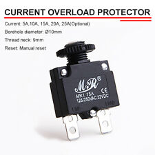 Automatic 5-25A Circuit Breaker table Fuse Overload Protector Manual  @1