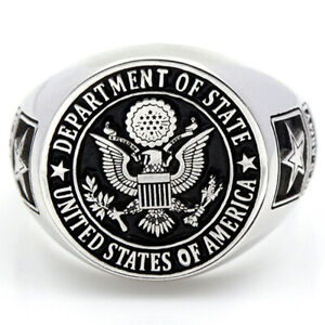 United States US Army Military Veterans Solid Real 925 Sterling Ring