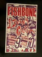 FISHBONE/ LIVING COLOUR ORIGINAL MIKE KING CONCERT FLYER/ PINE ST. THEATRE