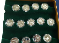 2002-03 Canada 50 Cents Festivals 13 Coin Silver Proof Set + Box & COA M1662