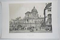 Gravure Paris 1861 Lithographie - Le Val de Grace