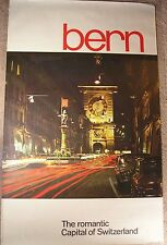 1960s True Vintage Travel Poster - Bern - The romantic Capital of Switzerland
