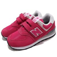 New Balance YV574EPJ W Wide Pink Grey White Kid Preschool Shoe Sneaker YV574EPJW
