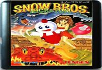 Snow Bros. - Nick & Tom (1990) 16 Bit Game Card For Sega Genesis / Mega Drive