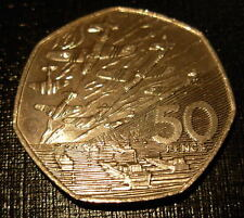Great Britain 1994 Copper-Nickel 50 Pence UNC 50thAnniversaryofNormandy Invasion