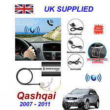Nissan Qashqai Bluetooth manos libres de teléfono AUX entrada MP3 Módulo de Cargador USB 1.0A