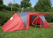 Tente de camping Loksa, 4 personnes, dôme ~ rouge