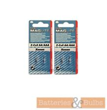 Mini Maglite Bulbs | Xenon 2 Cell AA / AAA Replacement Bulbs | Pack of 4