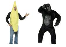 2 Great Halloween Costumes!! Black GORILLA Size Adult  XL & Banana Costume 🦍 🍌