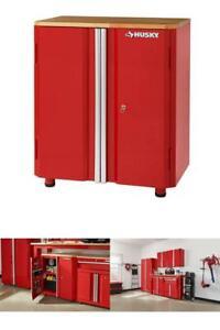 Garage Base Cabinet Freestanding Steel 2 Door Tool Storage Organizer 28x31x18 In