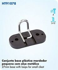 NAUTOS HT 91078 - 27MM BASE WITH LOOPS FOR SMALL CAM CLEAT - SAILING HARDWARE