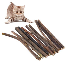 New listing 50pcs Pure Natural Catnip Toothpaste Branch Cleaning Teeth Sticks Cat Toy Molar