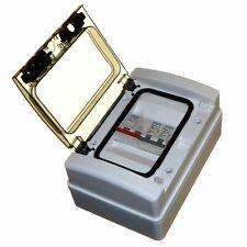 Garage Consumer Unit 6 and 16 Amp MCB 100amp Isolator Type B 2 Way Weatherproof