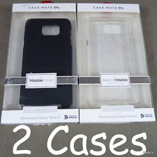 (2) Samsung Galaxy Note 5 Case-Mate Naked Sheer Glam & Black Tough Stand Cases