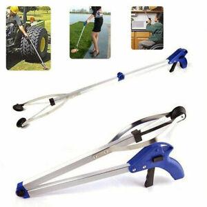 Foldable Pick Up Tool Grabber Reacher Stick Reaching Grab Extend Reach 3 Feet