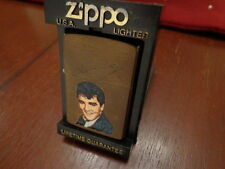 RARE ELVIS PRESLEY PROTOTYPE BRUSH BRASS ZIPPO LIGHTER 1986