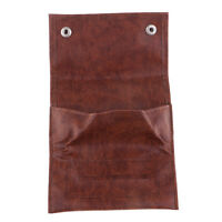 BROWN PU Leather Tobacco Cigarette Smoking Paper Pouch Case Bag Holder