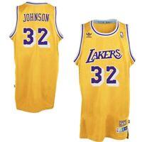 Magic Johnson #32 Los Angeles Lakers Classic Gold Swingman Jersey New