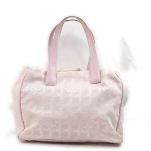 CHANEL Tote Bag New Travel Line Pinks Nylon 1514653