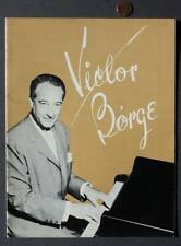 1960s Era Legendary Comic Music Pianist Victor Borge concert program-Vintage!*