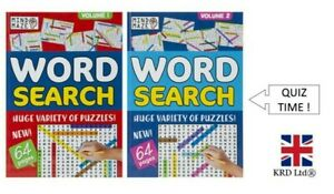 Word Search Puzzle Books Crossword Quiz Puzzles Brain Challenge Classic Games UK