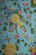 1  2/3  YDS Riverwoods My Cottage Garden Quilt Fabric ~Blue & Panel - 2 PCS