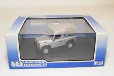 * UNIVERSAL HOBBIES 1241 LAND ROVER DEFENDER 90 SW ZAMBEZIE SILVER MINT BOXED