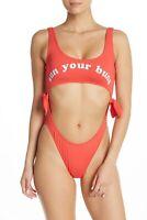 Billabong Womens High On Sun Swim One Piece Sunset Red M New