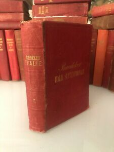 GUIDE KARL BAEDEKER ITALIE SEPTENTRIONALE 1873 ITALY ITALIEN