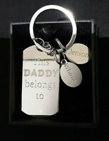 Fathers Day Key Ring Gift Personalised Engraved Key Chain Present In Gift Box