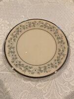 Vintage Lenox Dinner Plate Windsong 10 5/8 Inches Diameter Platinum Rim