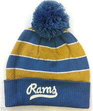 NWT NFL St. Louis Rams Reebok Winter Knit Cuffed Pom Hat Cap NEW!