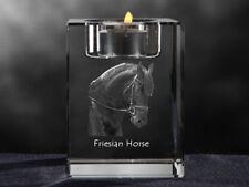Friese, Kristall-Kerzenleuchter mit Pferd, Crystal Animals DE