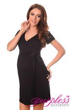 Maternity Cocktail Dress V-neck Pregnancy Clothing Wear Size 8 10 12 14 5416 of