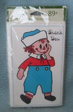 10 Vintage RAGGEDY ANDY Thank You Greeting Cards w/ Envelopes New Sealed