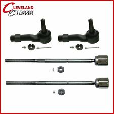4 Pc Steering Kits 2 Outer 2 Inner Tie Rod Ends Ford Aerostar 1986-1997