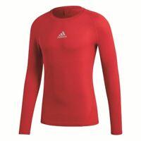 Adidas Fußball Alphaskin Langarmshirt Herren Unterziehshirt Funktionsshirt rot